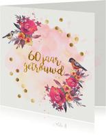 uitnodiging 60 jaar getrouwd aquarel