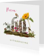 Uitnodiging 60 jaar vogels en bloemen