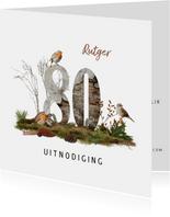 Uitnodiging 80 jaar vogels en bos