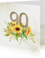 Uitnodiging 90 jaar zonnebloemen