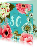 Uitnodiging botanische bloemen pracht
