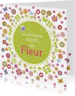 uitnodiging communie bloemen