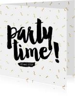 Uitnodiging confetti feest eighties