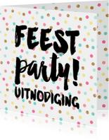 Uitnodiging confetti feest