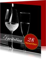 Uitnodiging feest stijlvol a