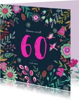 Uitnodiging Feestje Bloemen Botanisch 60