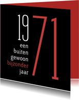 Uitnodiging geboorte 1971 sara