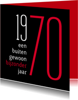 Uitnodiging geboorte 1970 sara