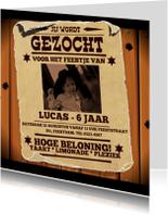 Uitnodiging GEZOCHT poster