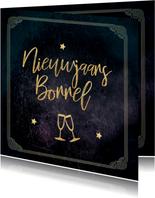 Uitnodiging great gatsby stijl nieuwjaarsborrel