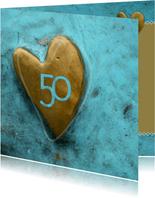 uitnodiging hart turquoise