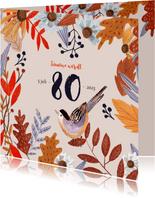 Uitnodiging herfstfeest oranje bladeren