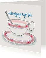 Uitnodiging High Tea kopje