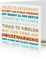 Uitnodiging Housewarming Letters