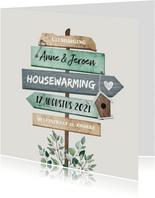Uitnodiging housewarming wegwijzers
