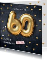 Uitnodiging huwelijksjubileum 60 jaar ballon