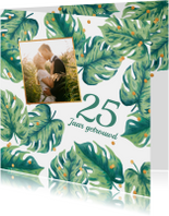 Uitnodiging huwelijksjubileum botanical foto