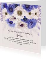 Uitnodiging jarig anemonen paars