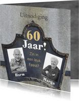 Uitnodiging jubileum 60 jaar