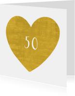 uitnodiging jubileum gouden hart