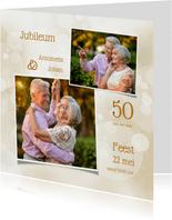 Uitnodiging jubileum klassiek collage foto's