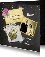 Jubileumkaarten - Uitnodiging jubileum vijftig