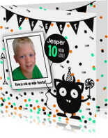 Uitnodiging Kinderfeest Monsters