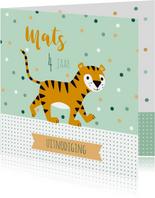 Uitnodiging kinderfeestje lieve tijger