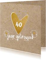 Uitnodiging kraft confetti - LO
