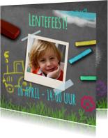 Uitnodiging lente krijtbord - BK