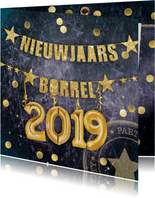 Uitnodiging nieuwjaarsborrel confetti