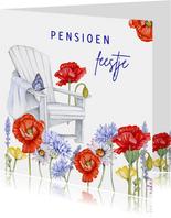 Uitnodiging pensioen klaprozen