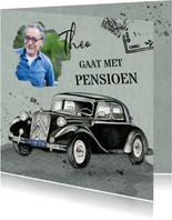 Uitnodiging pensioen oldtimer