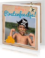 Uitnodiging piraten feestje Foto
