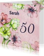 Uitnodiging sarah anemoon