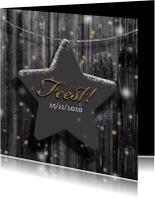 Uitnodiging ster op hout winter