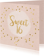uitnodiging sweet 16 party confetti