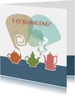 Uitnodiging - Teapots & Coffee