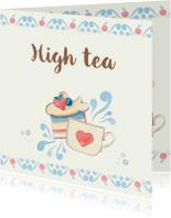 Uitnodiging thee met gebak