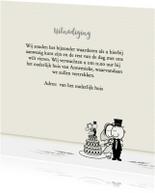 Uitnodiging trouw op linnen