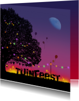 Uitnodiging Tuinfeest nacht