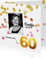 Uitnodigingen - Uitnodiging verjaardag 60 goud