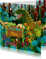 uitnodiging  verjaardag dinosaurus jongenskaart