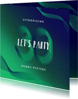 Uitnodiging verjaardag man modern grafisch 30 jaar