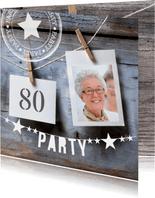 uitnodiging verjaardag polaroid