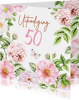 Uitnodiging verjaardag rozen