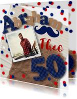 Uitnodiging verjaardagsfeest man 50 stoer foto