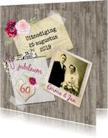 Uitnodiging vintage rozen