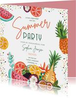 Uitnodiging voor een tropisch zomer feest