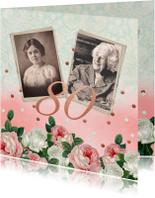 Uitnodiging vrouw rozen foto's